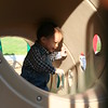 Matthew in the big tube.