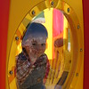 Nicholas hamming it up at the playground.