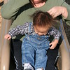 Matthew down the big slide!