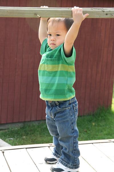 Nicholas hanging around.
