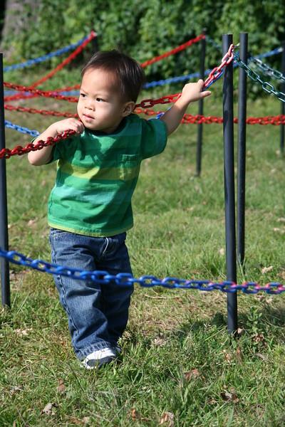Nicholas in the maze.
