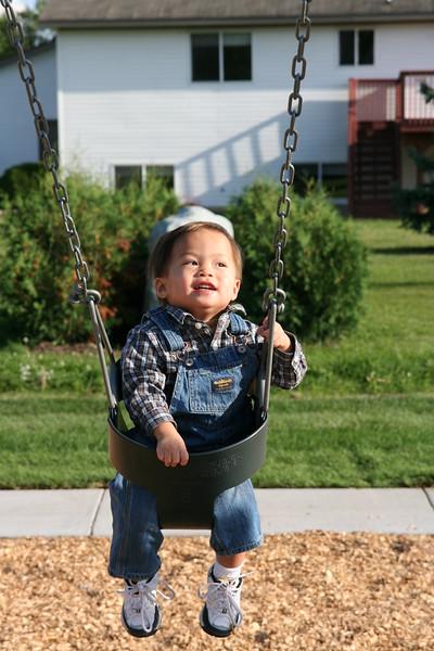 Matthew on the swing.