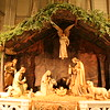 The Nativity scene at St. Patrick's Cathedral.