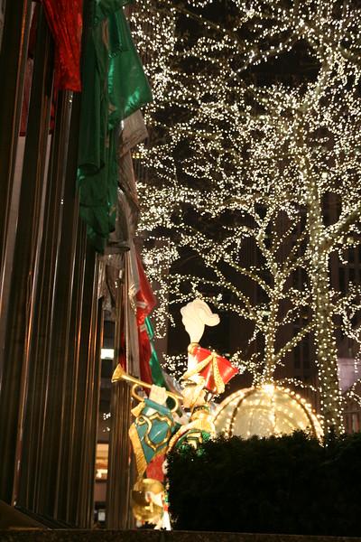 A scene at Rockefeller Center.