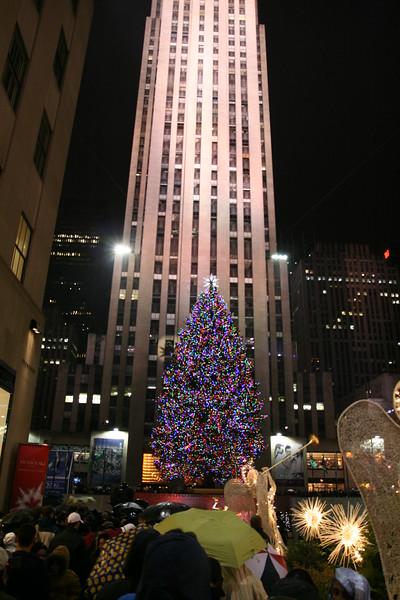 The Christmas tree at Rockefeller Center.