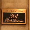 The address sign at the Waldorf=Astoria.