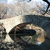 A stone bridge in Central Park.