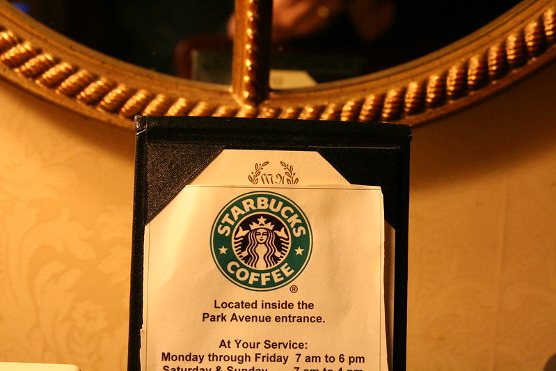 Starbucks is even at the Waldorf=Astoria!