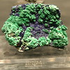 The Azurite and Malachite sample in the Gallery of Gems and Minerals at the American Museum of Natural History.