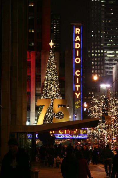 Radio city music hall at Christmas time.
