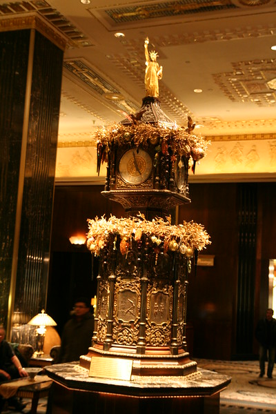 The lobby at the Waldorf=Astoria.