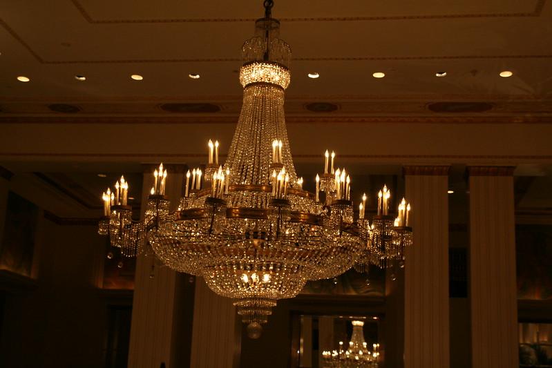 In the Waldorf=Astoria lobby.