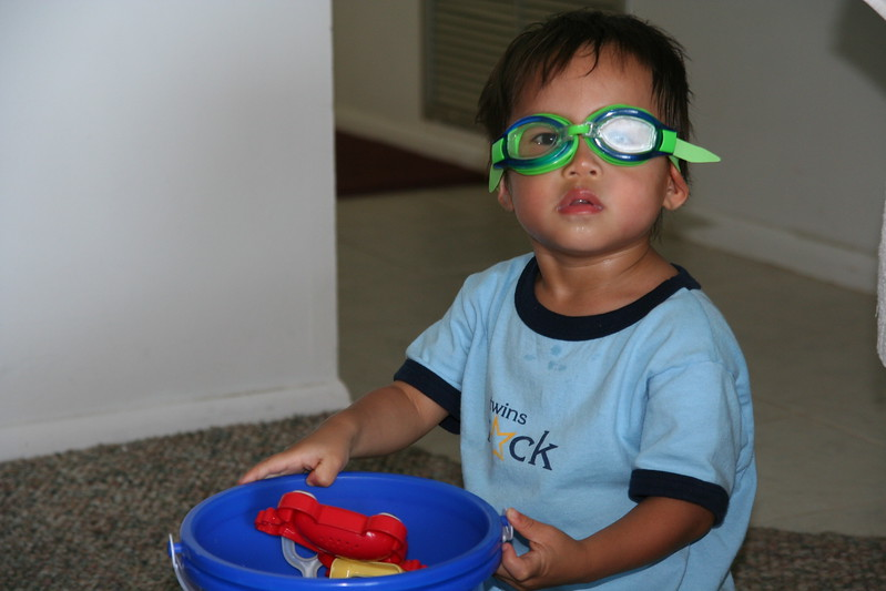 Nicholas ready for the pool