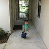 Nicholas running out the door.