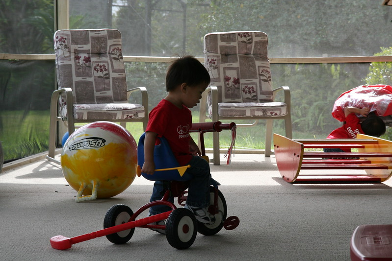 Trying the tricycle
