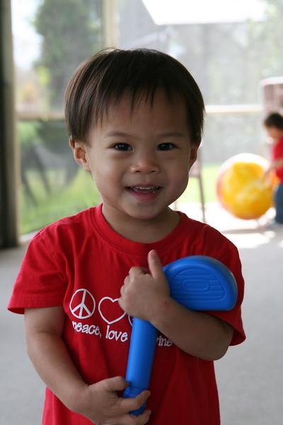Nicholas' big grin!