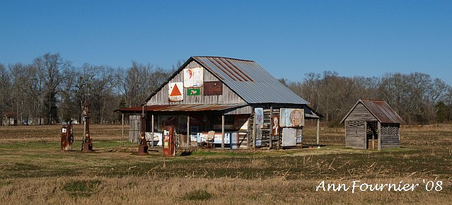 Old gas station on the side of the road, near where I was staying.<br /> Taken just a couple of days before the tornado hit.