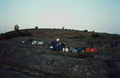 26-27/6; night camp on the rocks