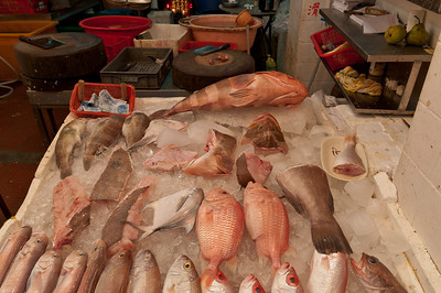 Hong Kong old markets just a stone's throw from the fancy Queens Road Central