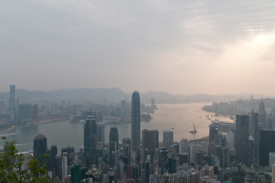 View from Victoria Peak at sunrise