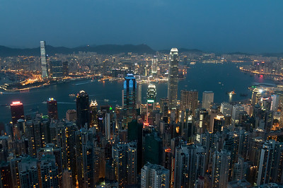 View from Victoria Peak at sunset