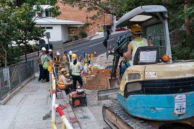 Construction work at Old Peak Road