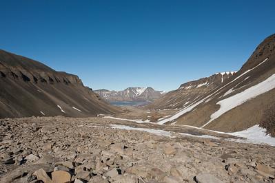 At the Longyearbyen glacier