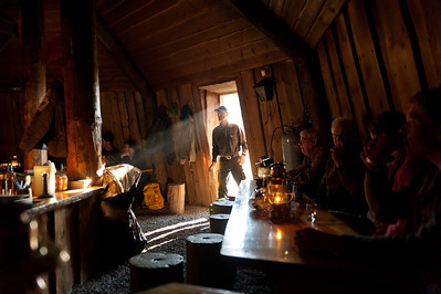 History lecture and dinner at Svalbard Wilderness Centre in Adventdalen