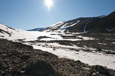 The Longyearbyen glacier