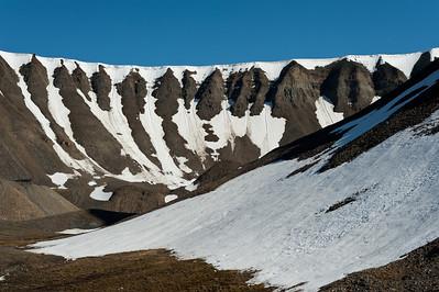 A walk up to the Longyearbyen glacier