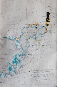 Map of lost ships 1860-1943, from the lifeboat museum