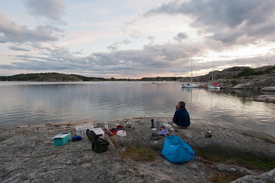 Night camp 9-10/8 at Amundholmen