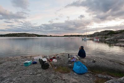 Night camp 9-10/8 at Amundholmen