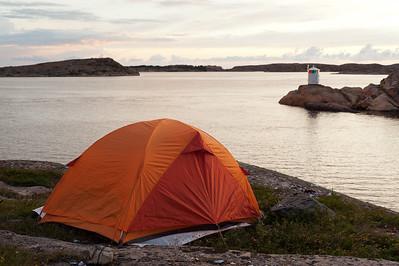 Night camp 8-9/8 at Kalvön