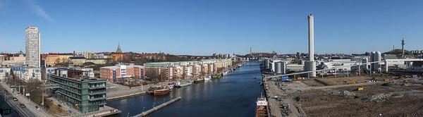 Hammarbyhamnen from Skanstullsbron
