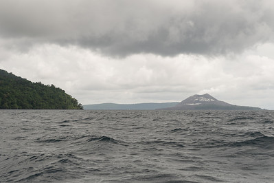 Arriving at the Krakatau archipelago