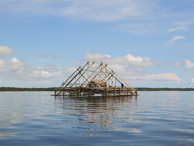 Fishing platforms outside Ujung Kulon