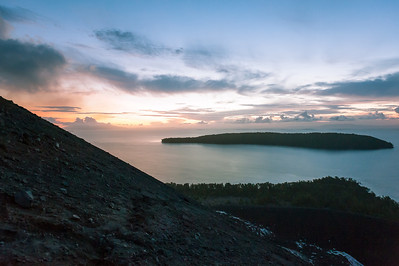 Sunrise from the Anak Krakatau volcano