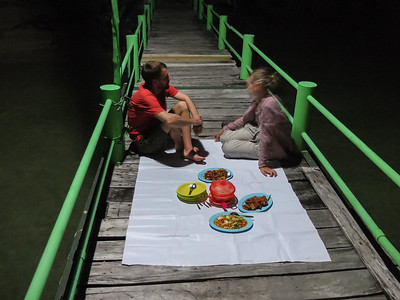 Dinner on Handeleum island jetty