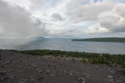 From Anak Krakatau volcano