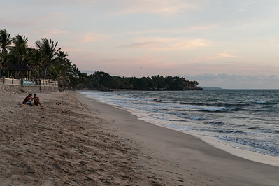 Carita beach at sunset