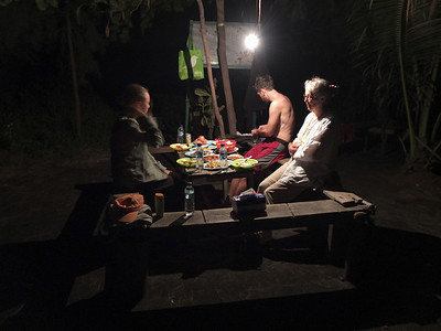 Late dinner in the dark
