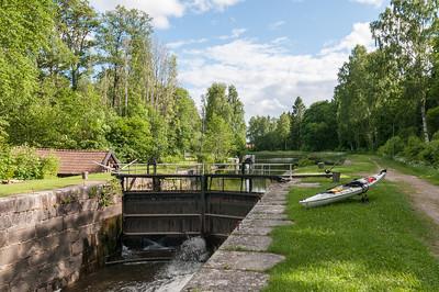 """Second lock 'Åttans', Hjälmare Kanal. 2013-06-04 17:12, 59°22'41"""" N 15°56'37"""" E"""