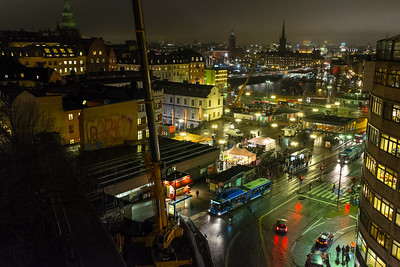 Slussen from Katarinahissen, 10 December 2013