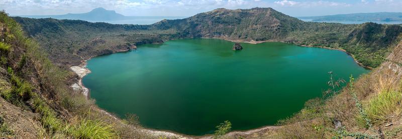 Taal Vulcano Island Crater