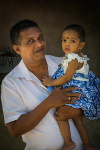 Sri Lankan father and daughter
