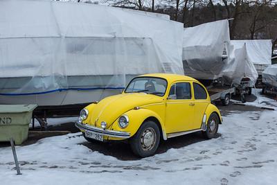 Yellow Volkswagen, Stockholm, February 2016