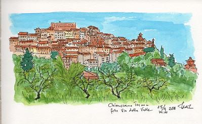 Chianciano Terme from Via della Valle