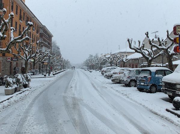 Nevada en El Escorial, Avenida Arboleda