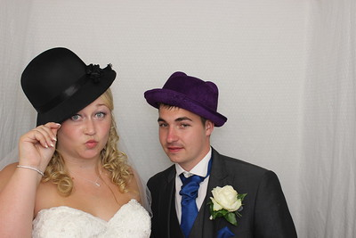 Hereford Photo booth (event-photobooth) capturing the funny moments from Amy and Lewis's wedding!